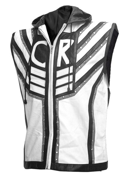 Black And White WWE Superstar Cody Rhodes Leather Vest