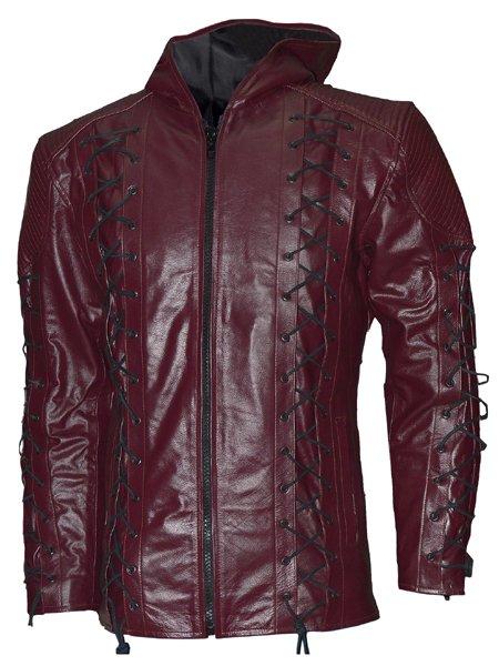 Colton Haynes Arrow Season 3 Hoodie Leather Jacket
