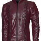 Colton Haynes Arrow Season 3 Hoodie Leather Jacket