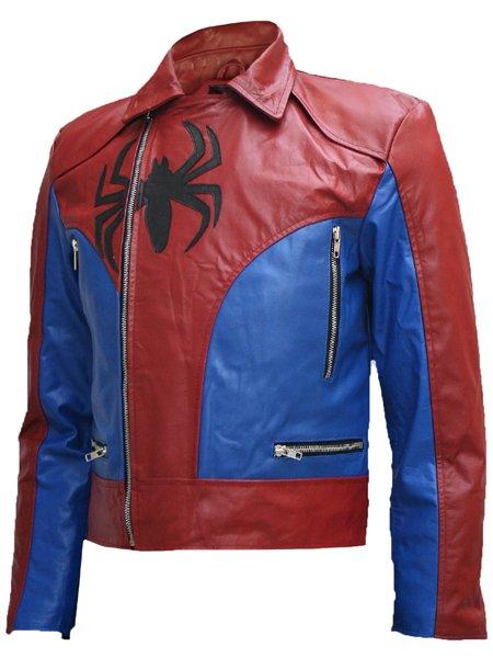 Fashion Biker The Amazing Spider Man Leather Jacket