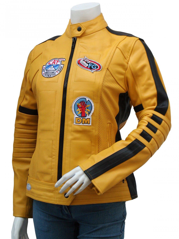 Women Biker Movie Kill Bill Leather Jacket