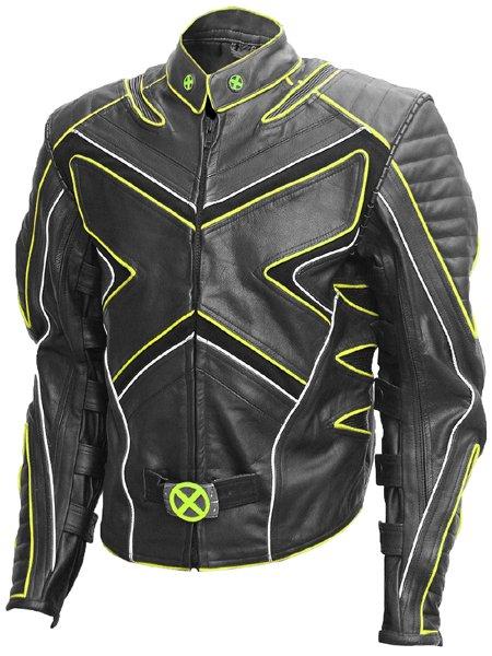 Black & Yellow Fashion X-Men Wolverine Leather Jacket