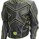 Black & Yellow Fashion X-Men Wolverine Leather Jacket