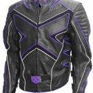 X-Men Wolverine Black & Purple Hugh Jackman Leather Jacket