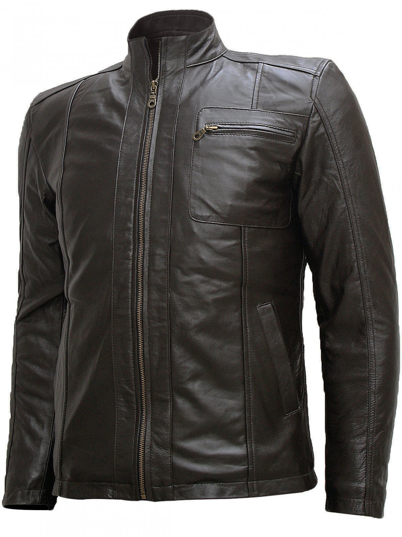 Soft Men Dark Brown Leather Jacket - Sylvain