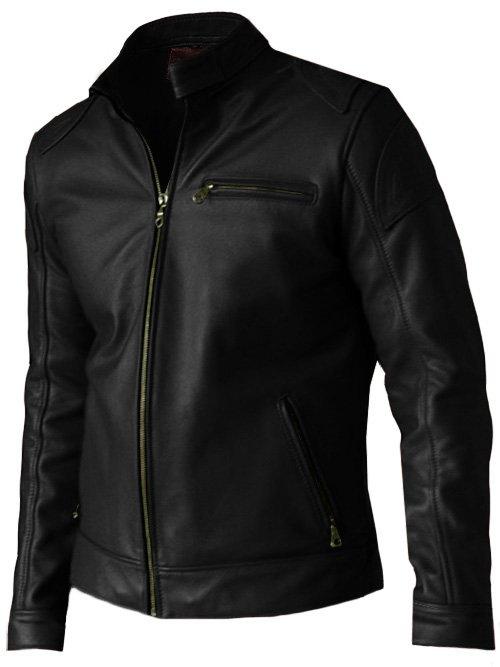 Lightweight Black Leather Jacket Men - Alec