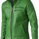 Modish Green Leather Jacket for Men - Sutton
