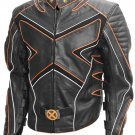 X-Men Black & Orange Fashion Wolverine Leather Jacket