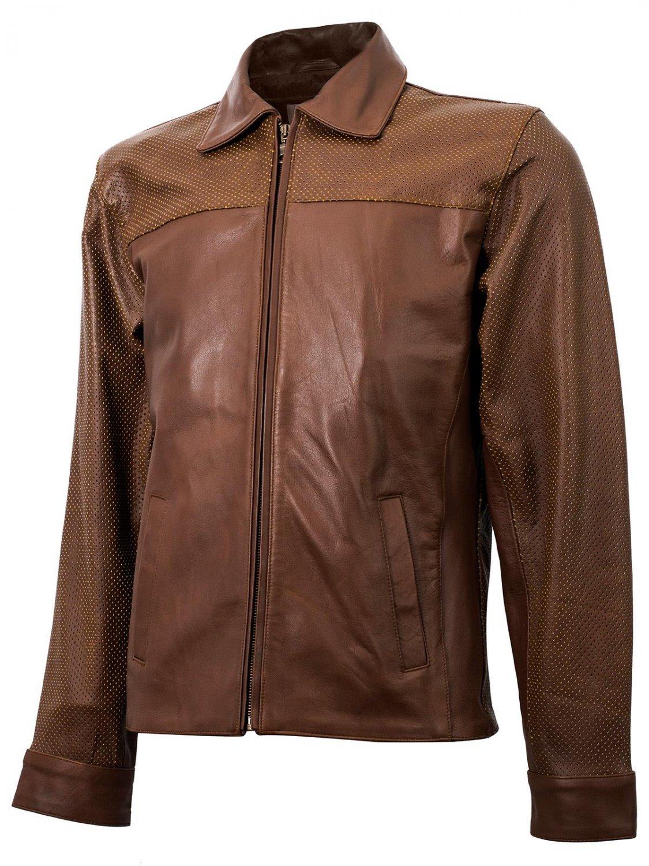 Summer Jacket -Vintage leather jacket in Tan