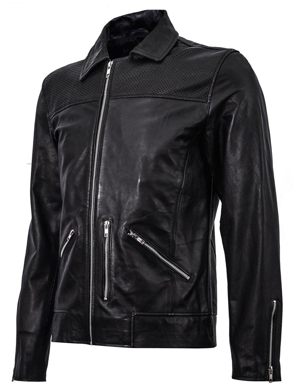 Summer Jacket - Retro Racing Jacket in Black