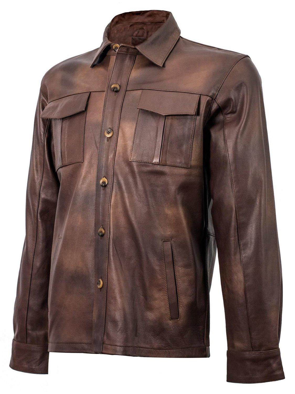 Summer Jacket - Brown Leather Shirt