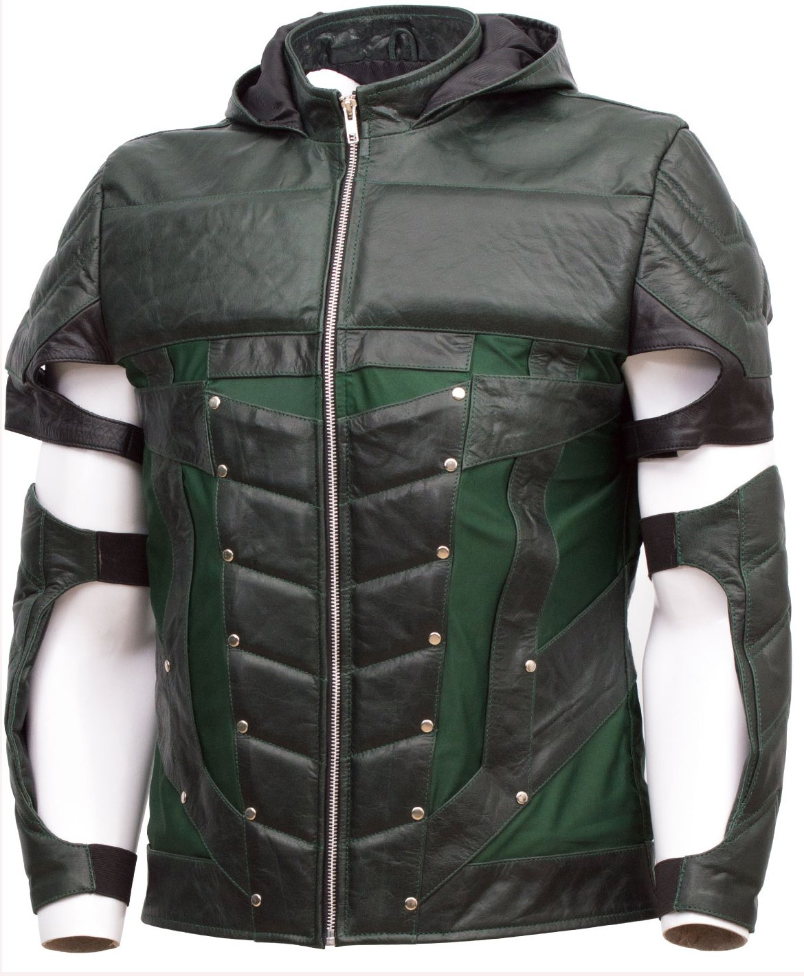 Oliver Queen Stephen Amell Arrow Costume Green Leather Jacket