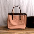 MONT5 Pink Handcrafted Work Tote Bag | Market Tote | Leather Office Tote Women
