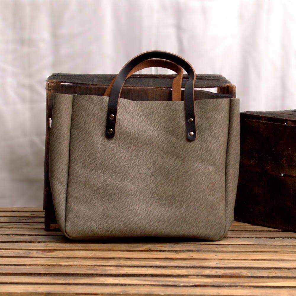 MONT5 KEL GREY Handmade Soft Carryall Ultimate Leather Women Tote Bag