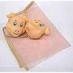Piggy Mesh Bath Toy Holder