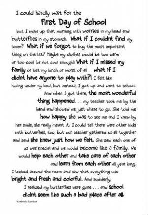 1st Day Of School Page Poem Scrapbook Sticker