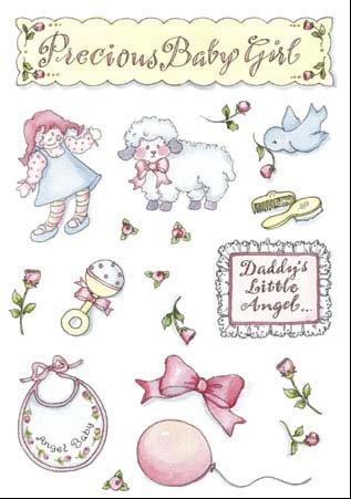 Baby Girl Scrapbook Stickers