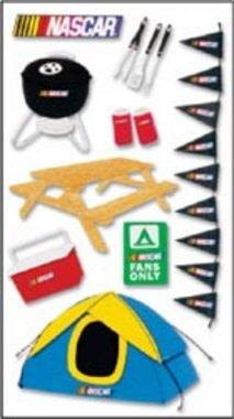 NASCAR - Tent 3D STICKER Scrapbook Sticker