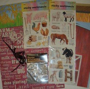 Farm 12x12 scrapbook kit