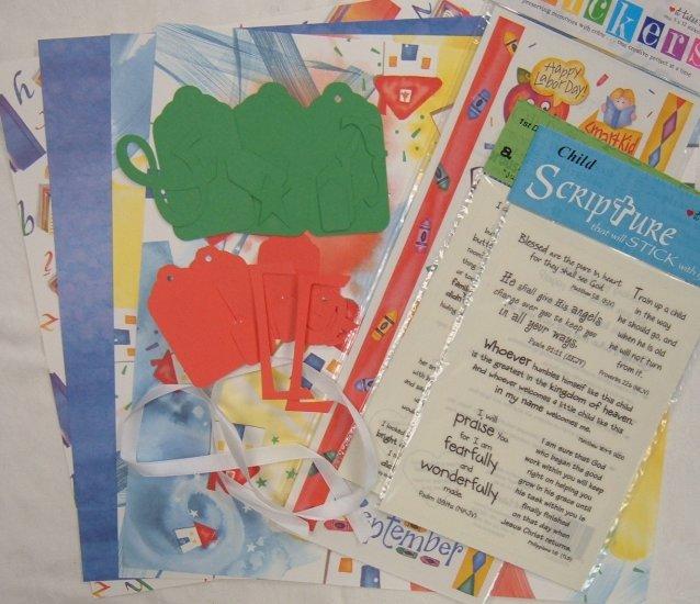School 12x12 scrapbook kit