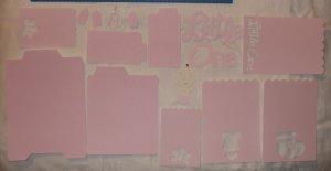 Pink Baby Girl Page Embellishment Set