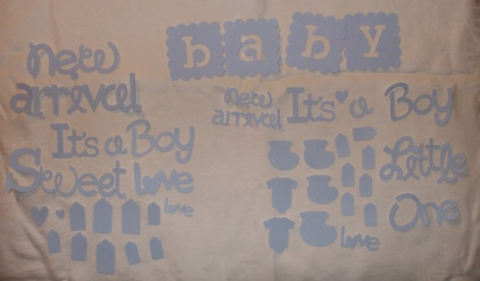 Baby Boy Page Embellishments for Scrapbook, Cards, Altered Art