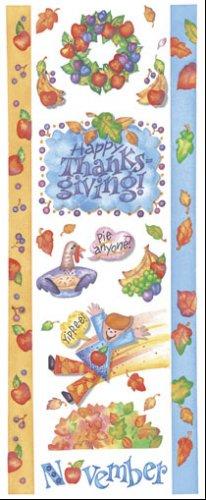 November Scrapbook Sticker Sheet