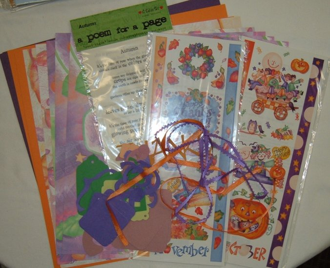 Fall 12x12 Scrapbook Kit