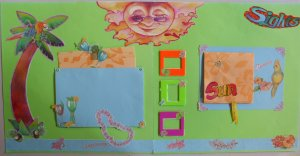Paradise12x12 Pre-Made Scrapbook Pages