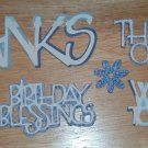 Blue Word Diecuts