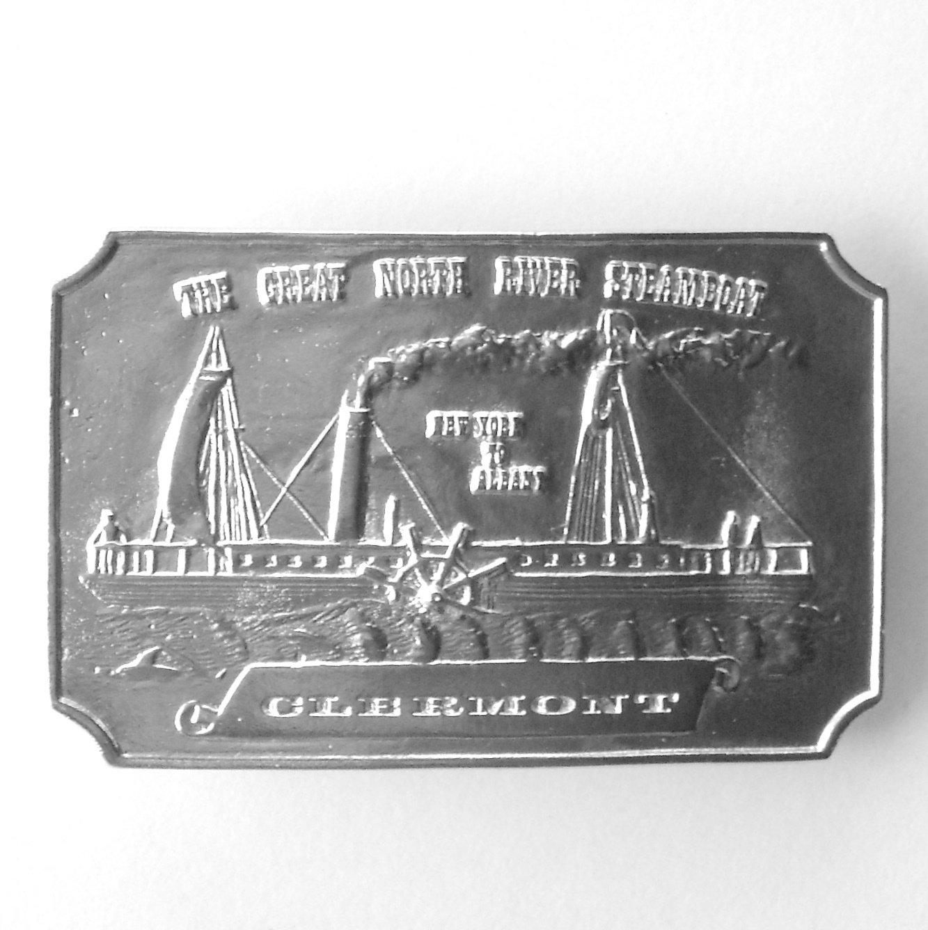 Clermont Great North River Steamboat Vintage Bergamot Belt Buckle