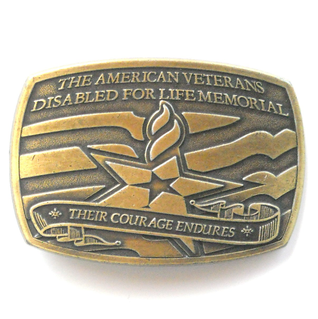 American Veterans Disabled For Life Memorial metal alloy belt buckle