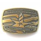 American Veterans Disabled For Life Memorial metal alloy belt buckle