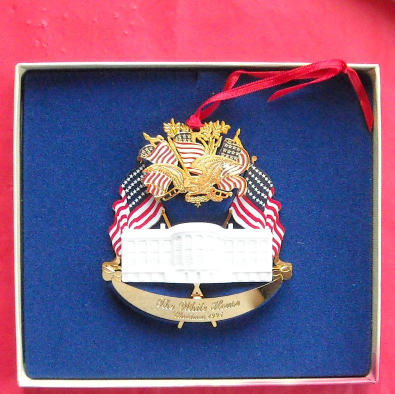 Christmas 1995 The White House Historical Association 24k Gold Finish Ornament