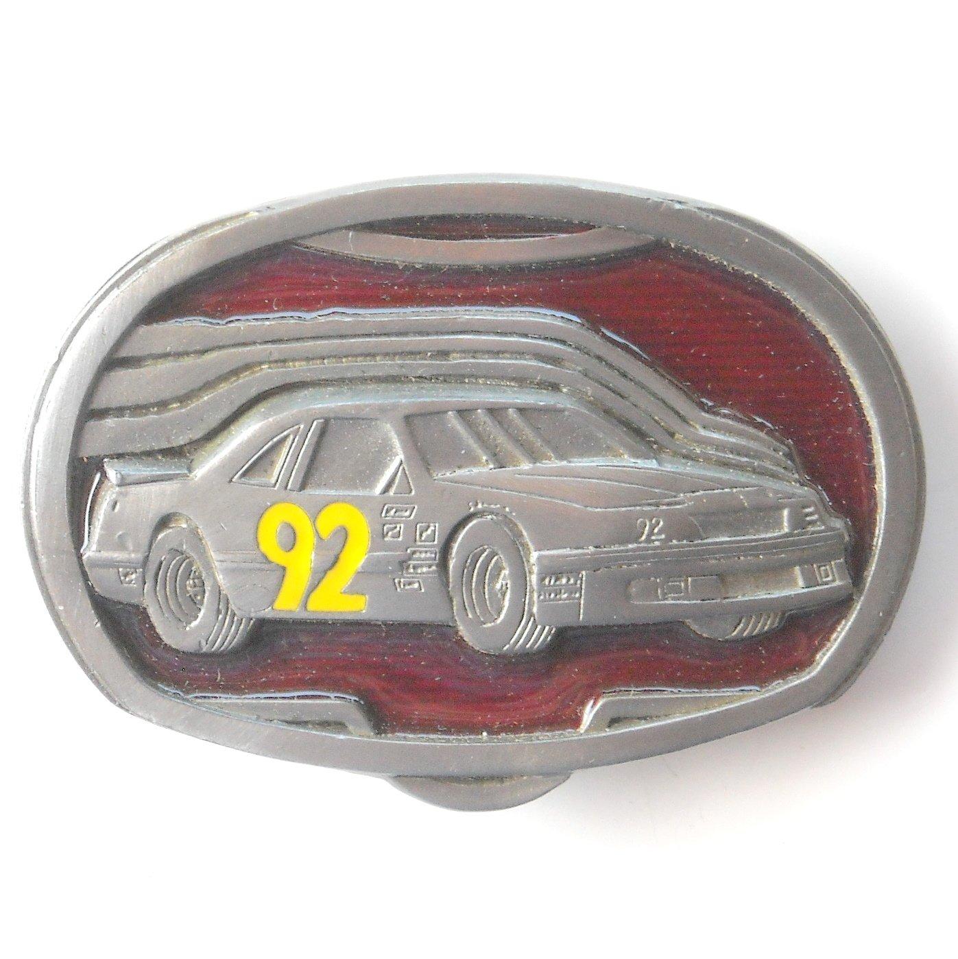 C+J 1992 Nascar Race Car 92 C&J Inc pewter alloy belt buckle +