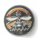 Native American Indian Dancer Kachina Precision Incentives Pewter Belt Buckle