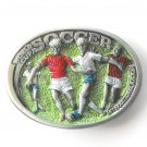 World Cup Soccer Vintage Great American Buckle Co pewter alloy belt buckle