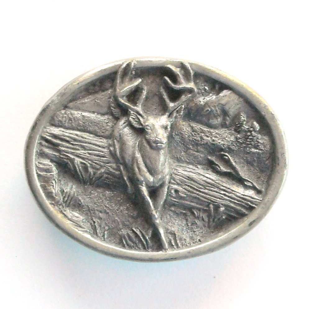 Running Deer 3D Bergamot Vintage belt buckle