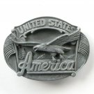 Vintage 3D United States America Eagle Arroyo Grande Pewter Belt Buckle