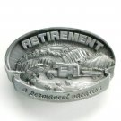 Retirement A Permanent Vacation C&J Pewter Belt Buckle