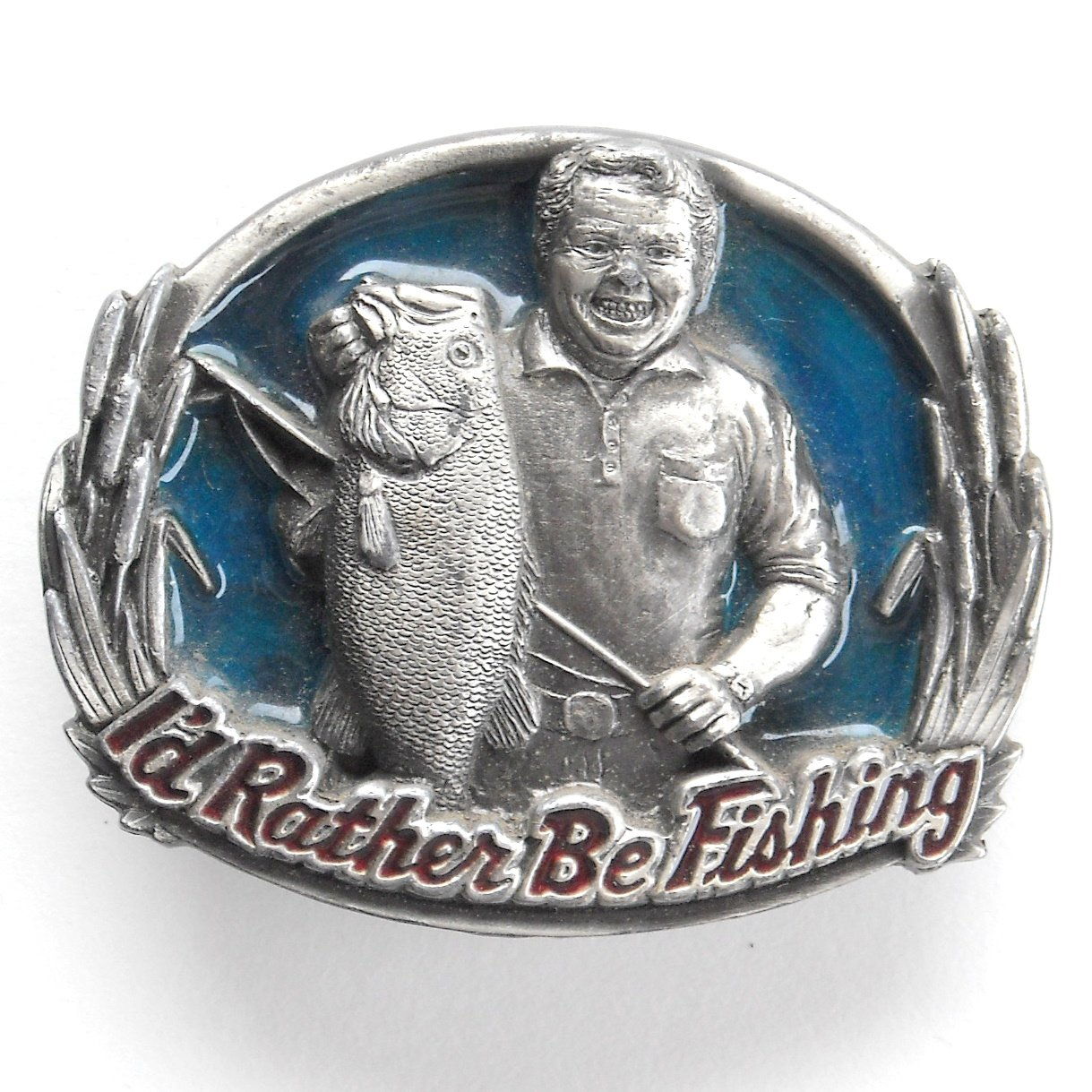 Rather Be Fishing 3D Great American GAP Belt Buckle