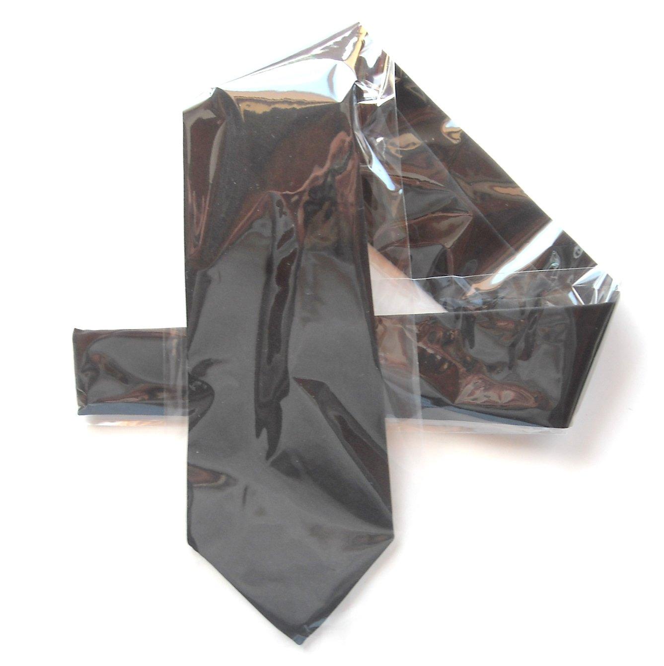 G Rinoldi Vintage Solid Black Necktie Tie