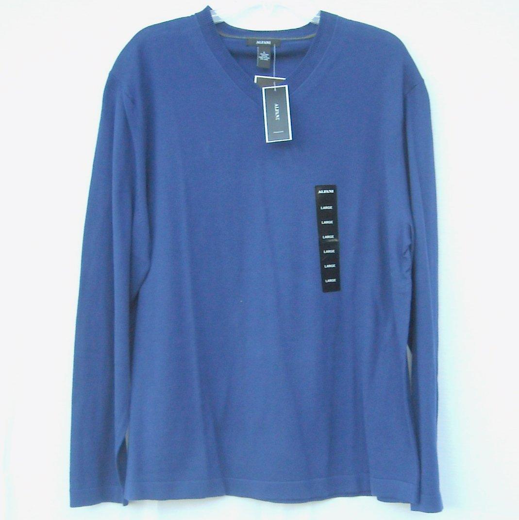 Alfani Deep Grape V Neck Pima Cotton Boys Long Sleeve Knit Shirt Sweater size L