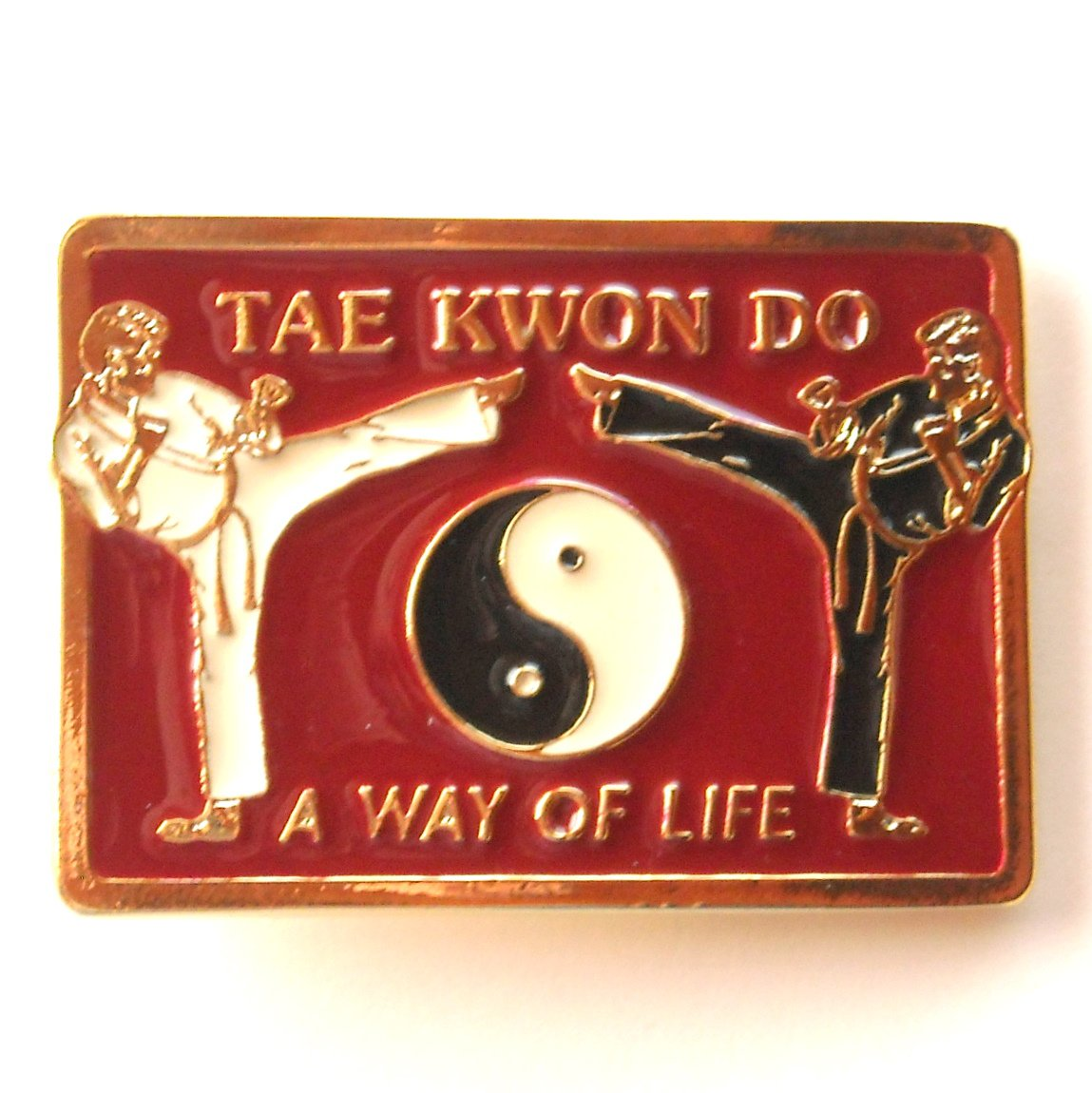 Tae Kwon Do A Way Of Life brass alloy belt buckle