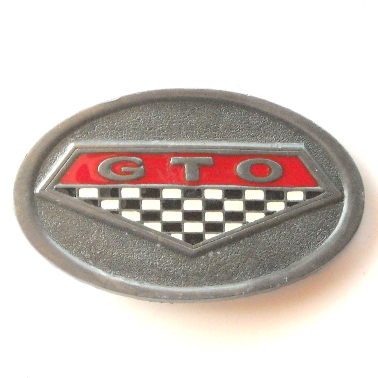 C+J 1996 Pontiac GTO C&J Inc pewter alloy belt buckle