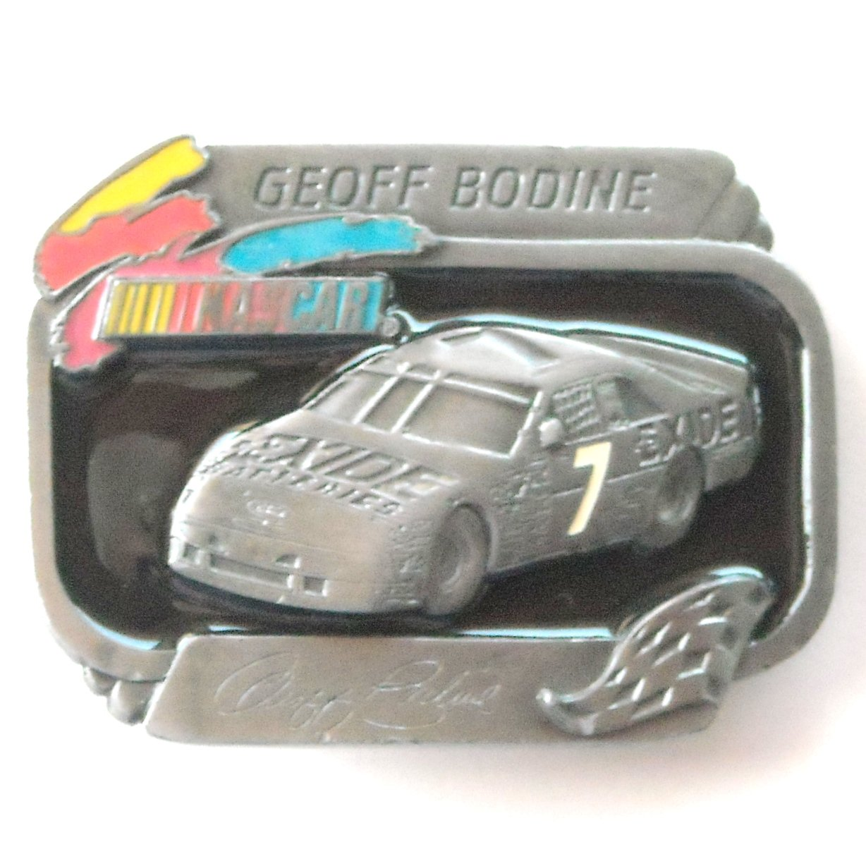 American Legends Geoff Bodine Nascar Exide 7 Limited Edition 511 Belt Buckle