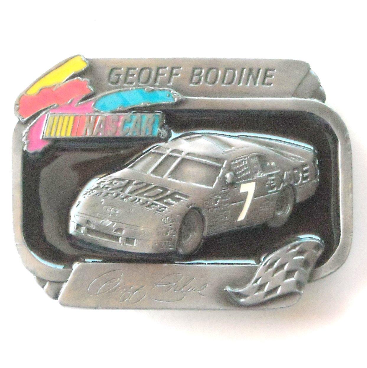 Geoff Bodine American Legends Nascar Exide 7 Limited Edition 498 Belt Buckle