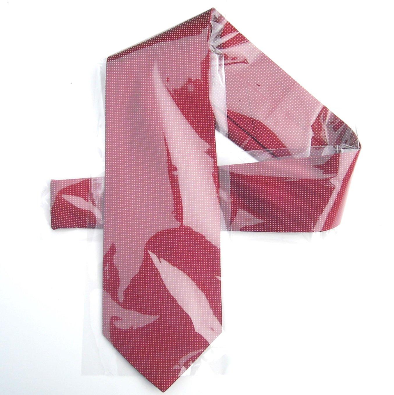 Vintage Claiborne Red White Dots Hand Made Mens Silk Necktie Tie
