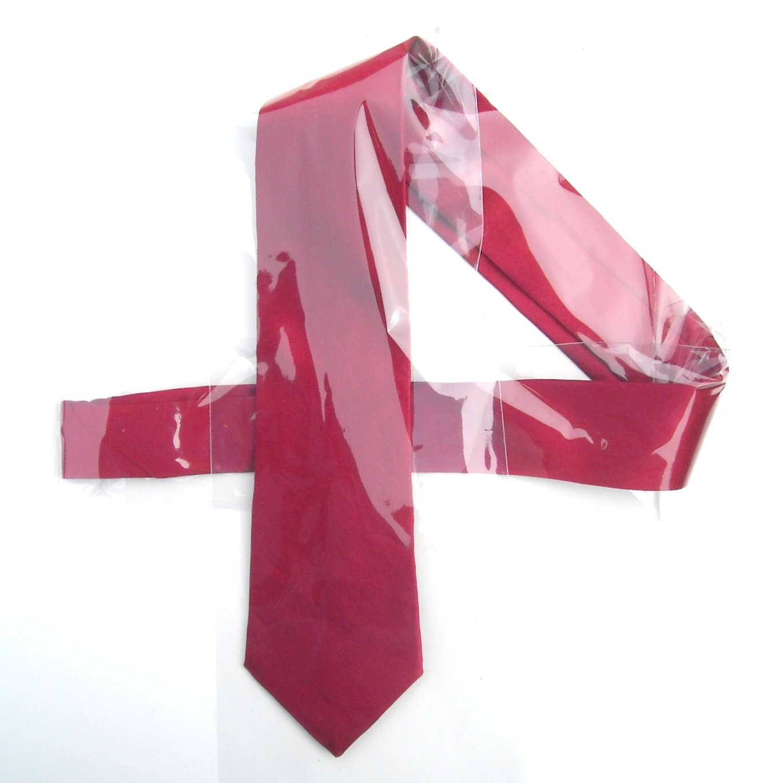 Vintage Stringbeans Red Mens Silk Necktie Tie