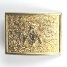 Vintage RARE Freemason Masonic metal belt buckle